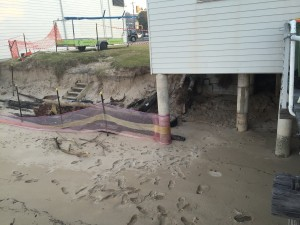 Erosion under Marine Rescue Middle Harbour's base.